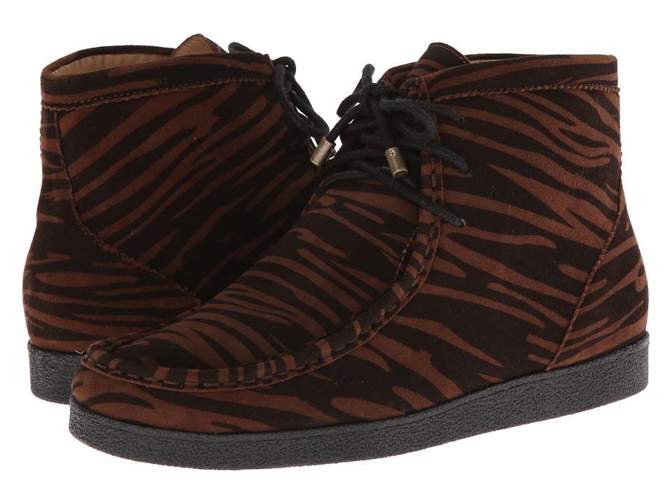 Isaac Mizrahi New York - Leopard (Tiger Print) Women's Lace-up Boots