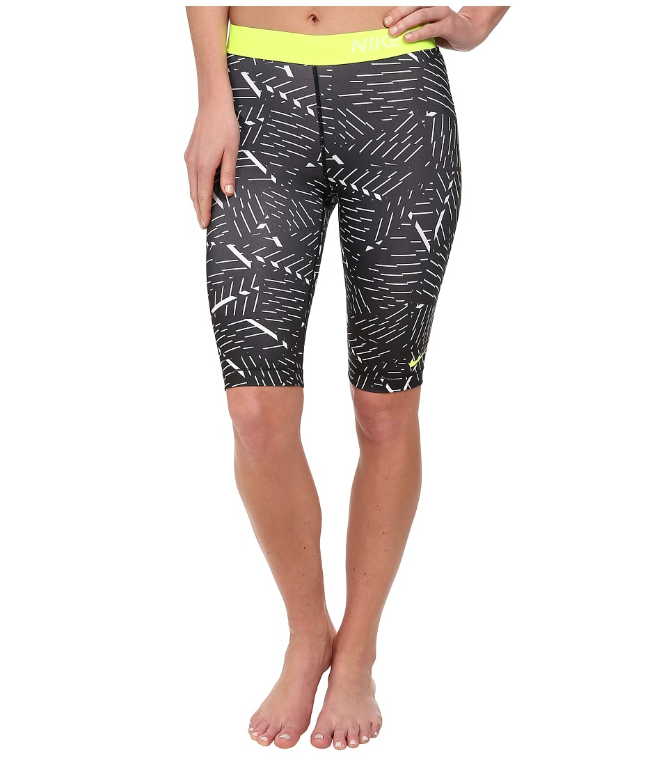 Nike - Pro Bash 11 Short (White/Blck/Volt) Women's Shorts