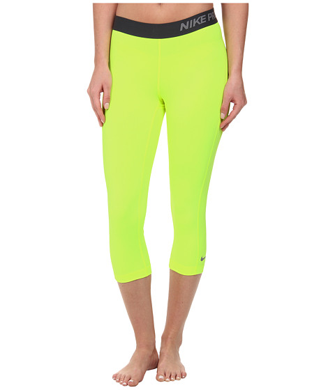 Nike - Pro Capri (Volt/Anthracite/Cool Grey) Women