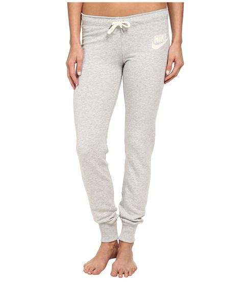 Nike - Rally Tight Pant (Grey Heather/Sail) Women's Casual Pants