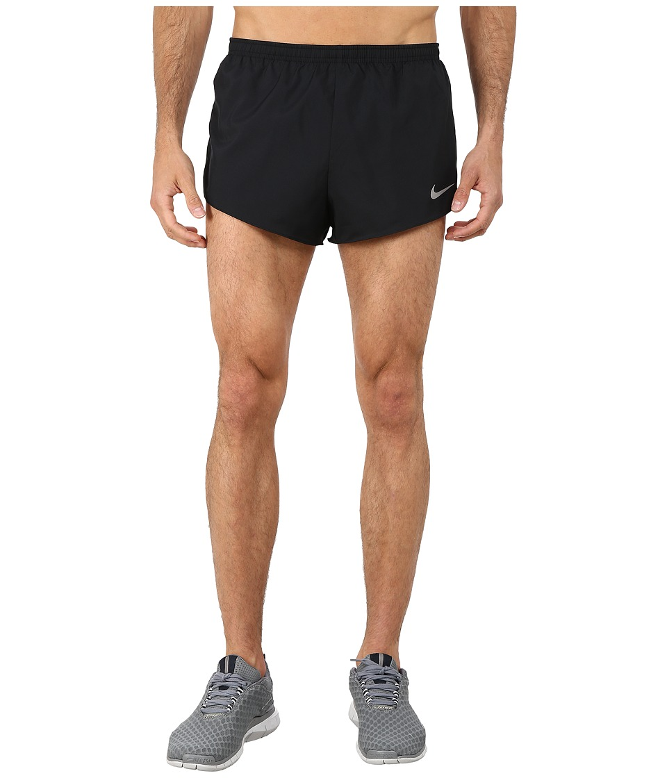 Nike - 2 Racer Short (Black/Anthracite/Volt/Reflective Silver) Men's Shorts