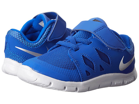 Nike Kids - Free 5 (Infant/Toddler) (Lyon Blue/Blue Lagoon/Black/Metallic Silver) Kids Shoes
