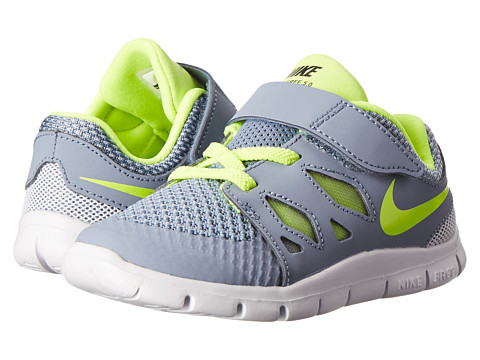 Nike Kids - Free 5 (Infant/Toddler) (Cool Blue/Wolf Grey/White/Volt) Kids Shoes