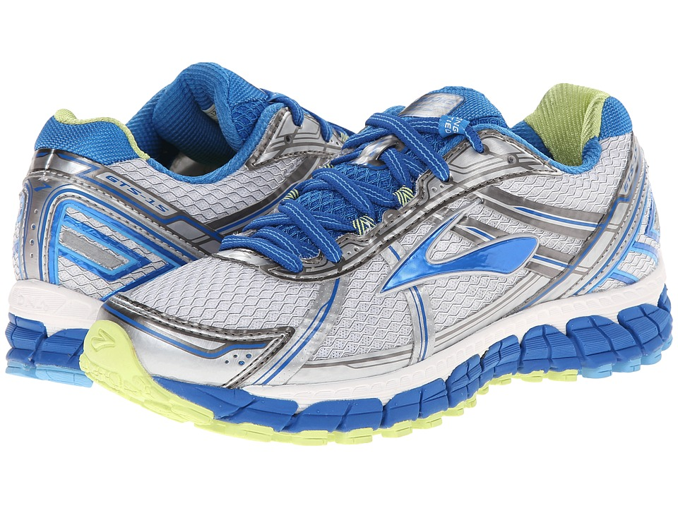 Brooks Adrenaline GTS 15 (White/Dazzling Blue/Sharp Green) Women