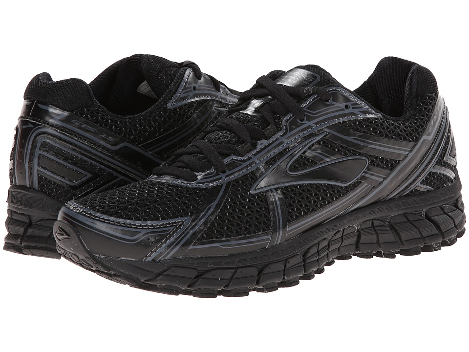 Brooks - Adrenaline GTS 15 (Black/Anthracite) Women's Running Shoes