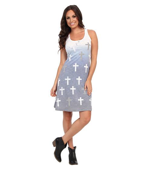 Roper - 9237 Poly Spandex Jersey Tank Dress (Blue) Women's Dress