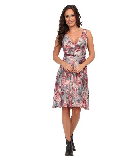 Roper - Feathers Dress (Wine) Women's Dress
