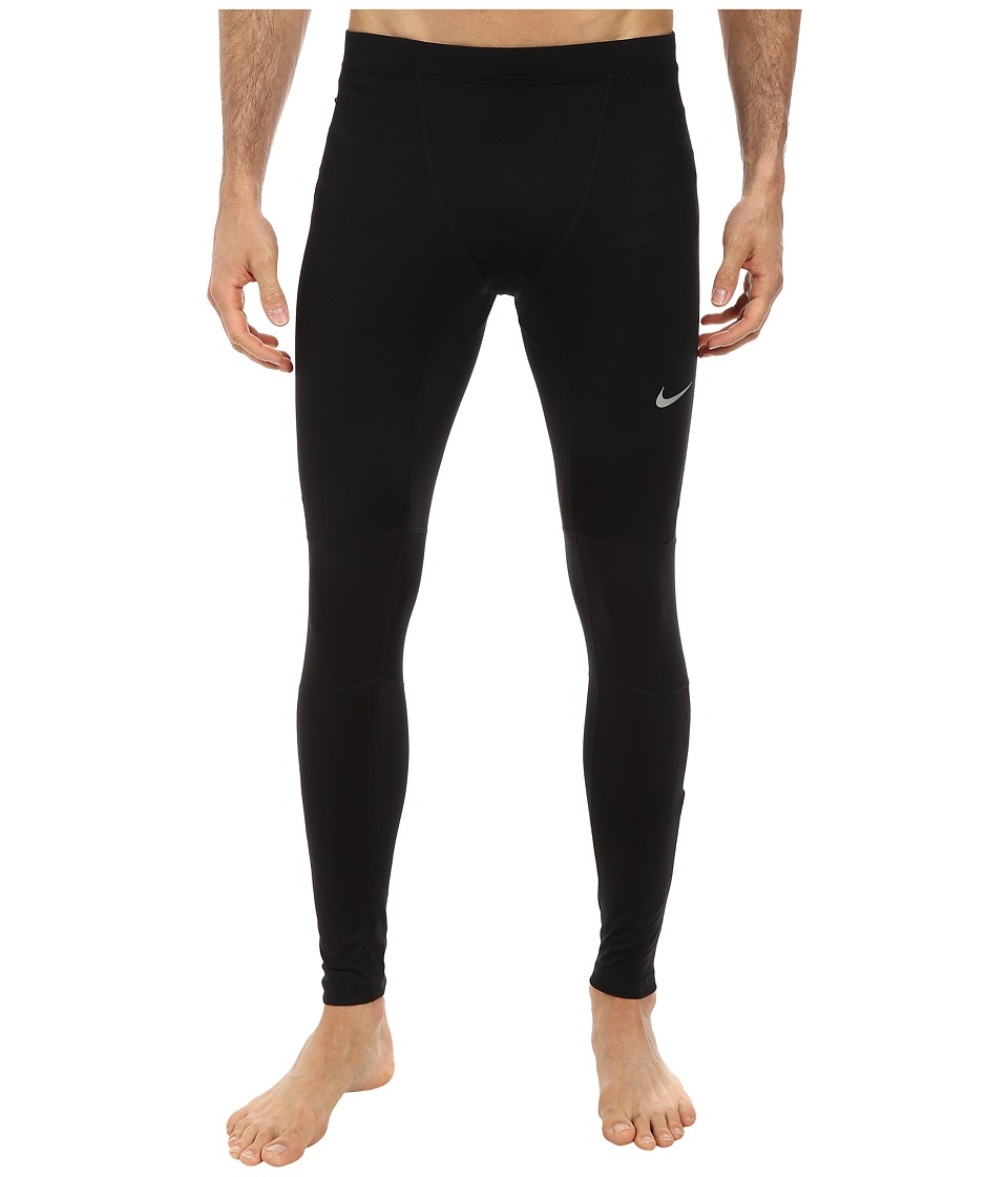 Nike - Essential Running Tight (Black/Black/Black/Reflective Silver) Men's Casual Pants