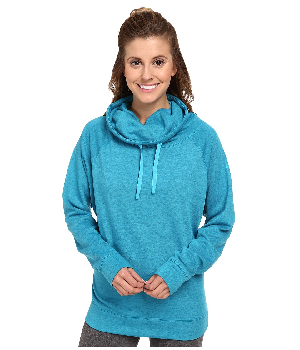 Nike - Obsessed Infinity Coverup L/S Top (Light Blue Lacquer Heather/Blue Lagoon) Women's Long Sleeve Pullover