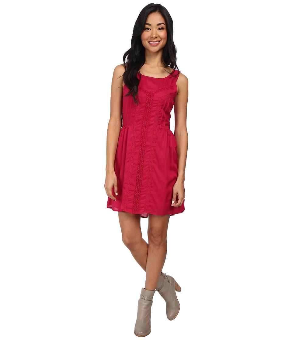 Volcom - Black Sand Dress (Maroon) Women's Dress