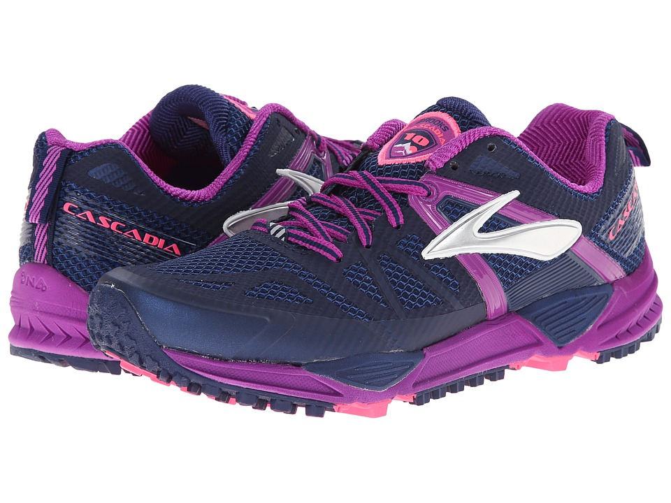 Brooks - Cascadia 10 (Midnight/Purple Cactus Flower) Women