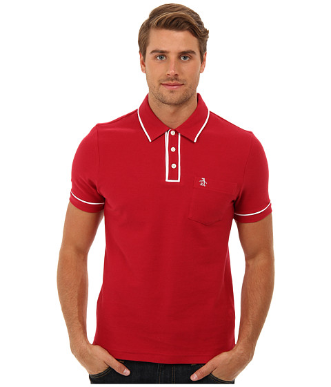 Original Penguin - Earl Polo (Red) Men's Short Sleeve Pullover