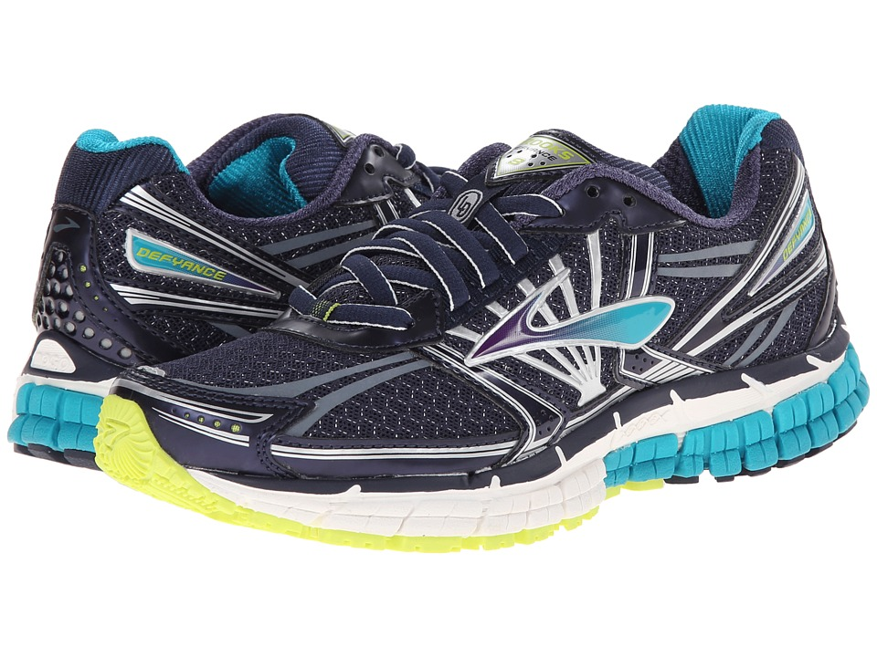 Brooks - Defyance 8 (Peacoat/Caribbean/Lime Punch) Women's Running Shoes