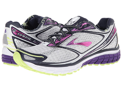 Brooks - Ghost 7 (White/Heliotrope/Sharp Green) Women