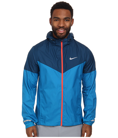 Nike - Vapor Jacket (Light Blue Lacquer/Blue Force/Bright Crimson/Reflective Silver) Men's Coat