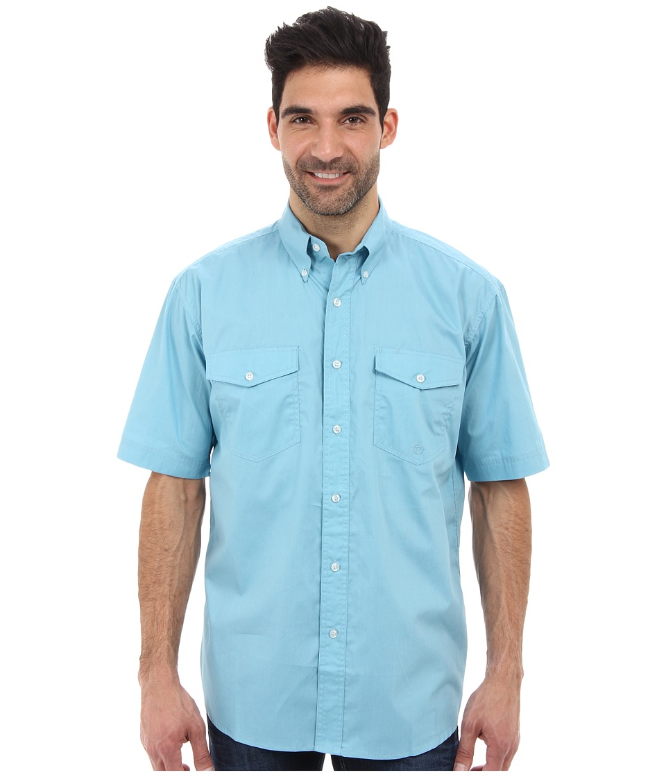 Roper - City Button S/S Shirt (Green) Men's Short Sleeve Button Up