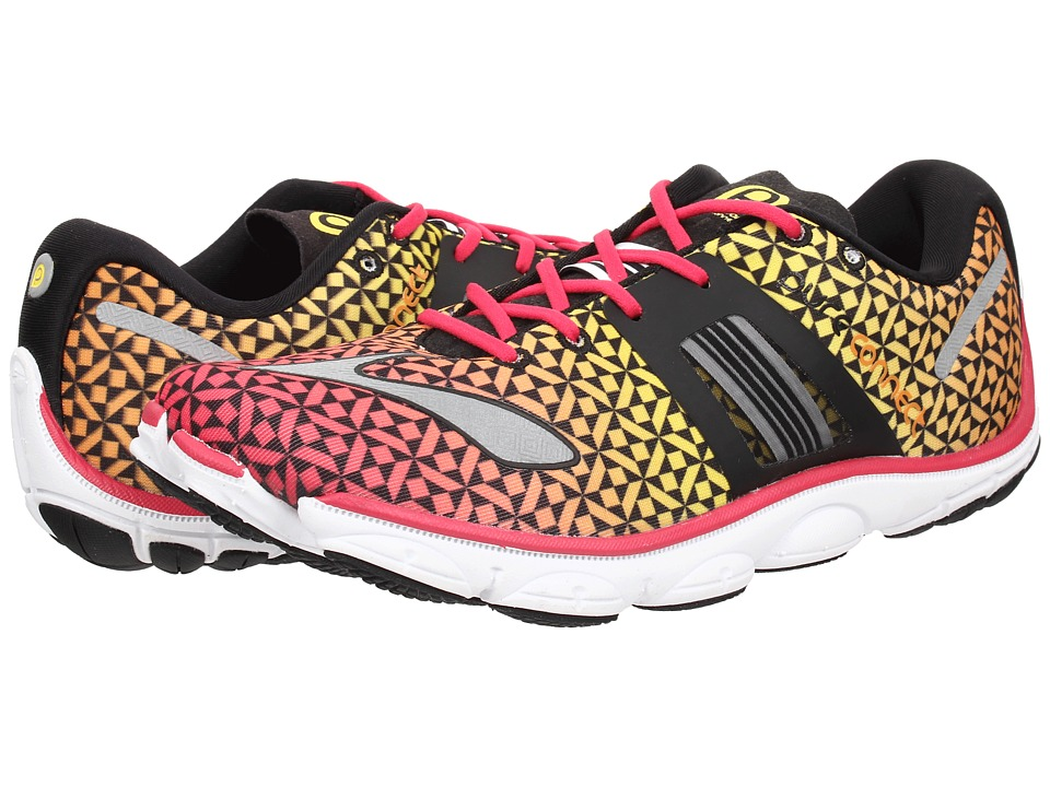 Brooks - PureConnect 4 (Raspberry/Sun Orange/Vibrant Yellow) Women