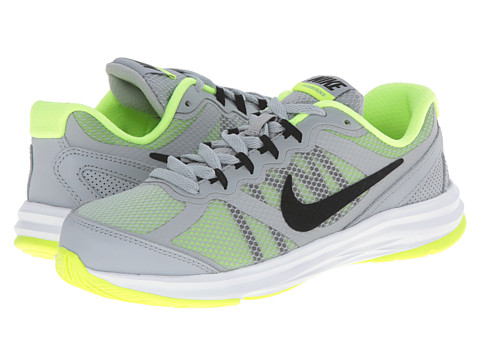 Nike Kids - Fusion Run 3 (Little Kid) (Wolf Grey/Volt/White/Black) Boys Shoes