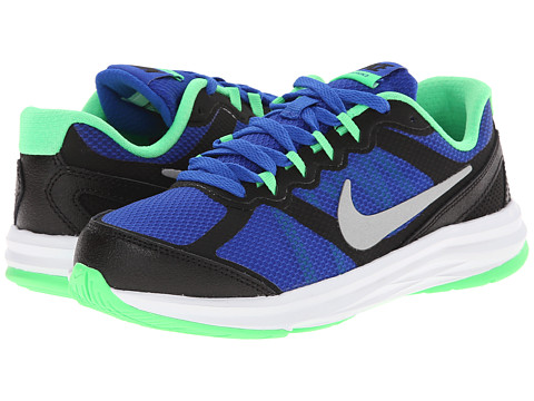 Nike Kids - Fusion Run 3 (Little Kid) (Lyon Blue/Poison Green/White/Metallic Silver) Boys Shoes