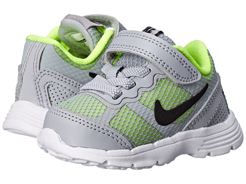 Nike Kids - Fusion Run 3 (Infant/Toddler) (Wolf Grey/Volt/White/Black) Boys Shoes