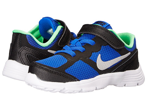 Nike Kids - Fusion Run 3 (Infant/Toddler) (Lyon Blue/Poison Green/White/Metallic Silver) Boys Shoes