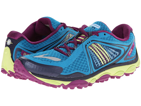 Brooks - PureGrit 3 (Blue Jewel/Sharp Green/Grape Juice) Women's Running Shoes