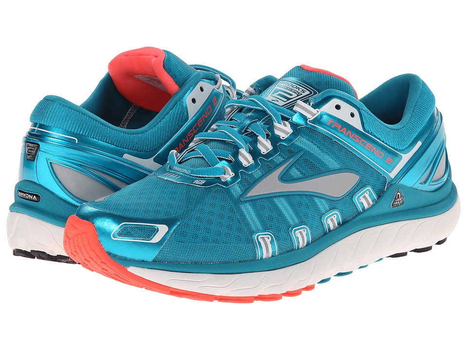 Brooks Transcend 2 (Caribbean/Poppy/White) Women