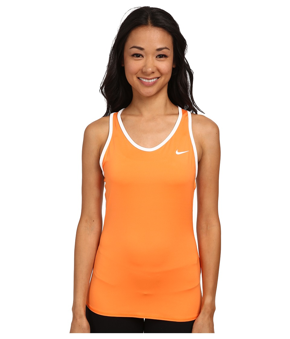 Nike - Advantage Court Tank (Bright Mandarin/White/White) Women