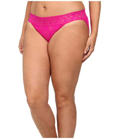 Hanky Panky - Plus Size Signature Lace V-Kini (Tulip Pink) Women
