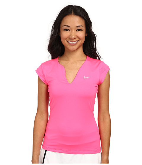 Nike - Pure Tennis Top (Pink Pow/Matte Silver) Women