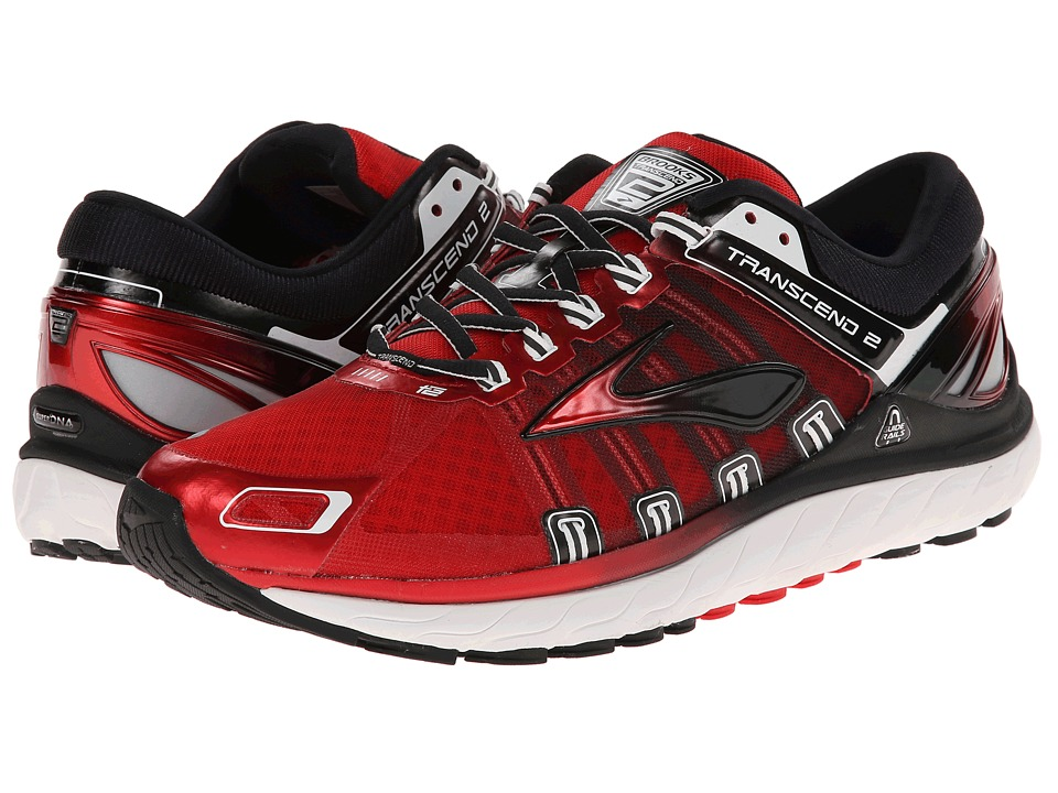 Brooks - Transcend 2 (High Risk Red/Black/White) Men's Running Shoes