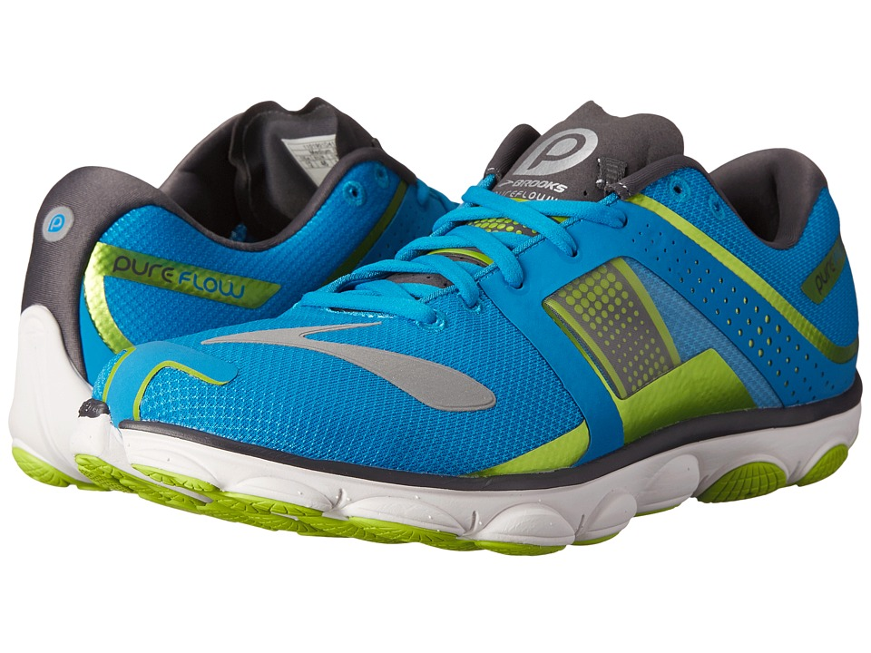 Brooks - PureFlow 4 (Methyl Blue/Lime Green/Anthracite) Men's Running Shoes