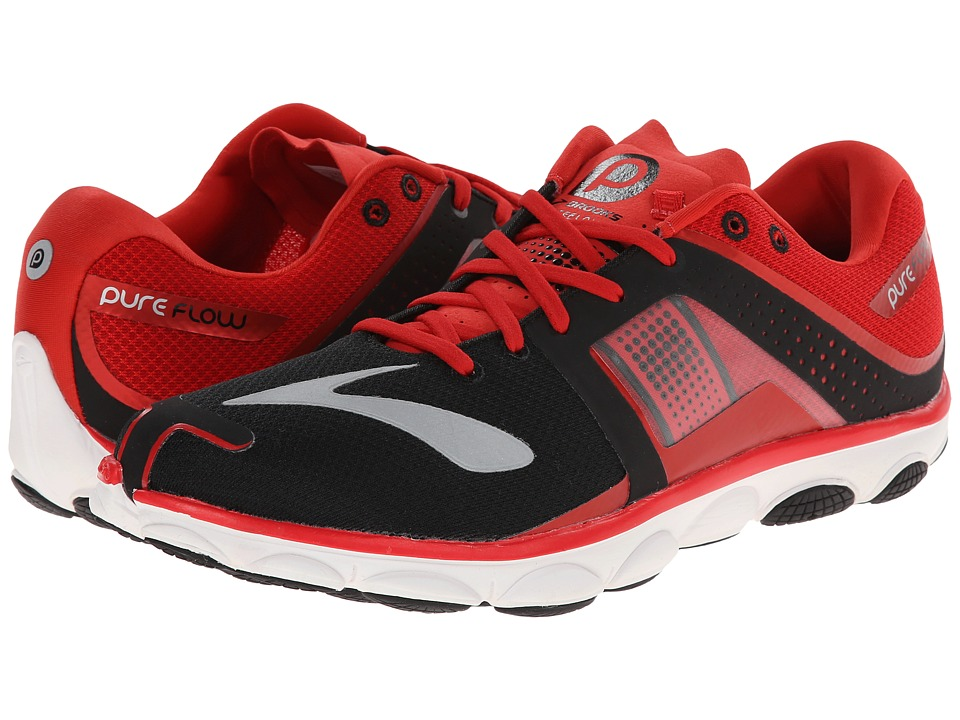 Brooks - PureFlow 4 (High Risk Red/Black/White) Men's Running Shoes