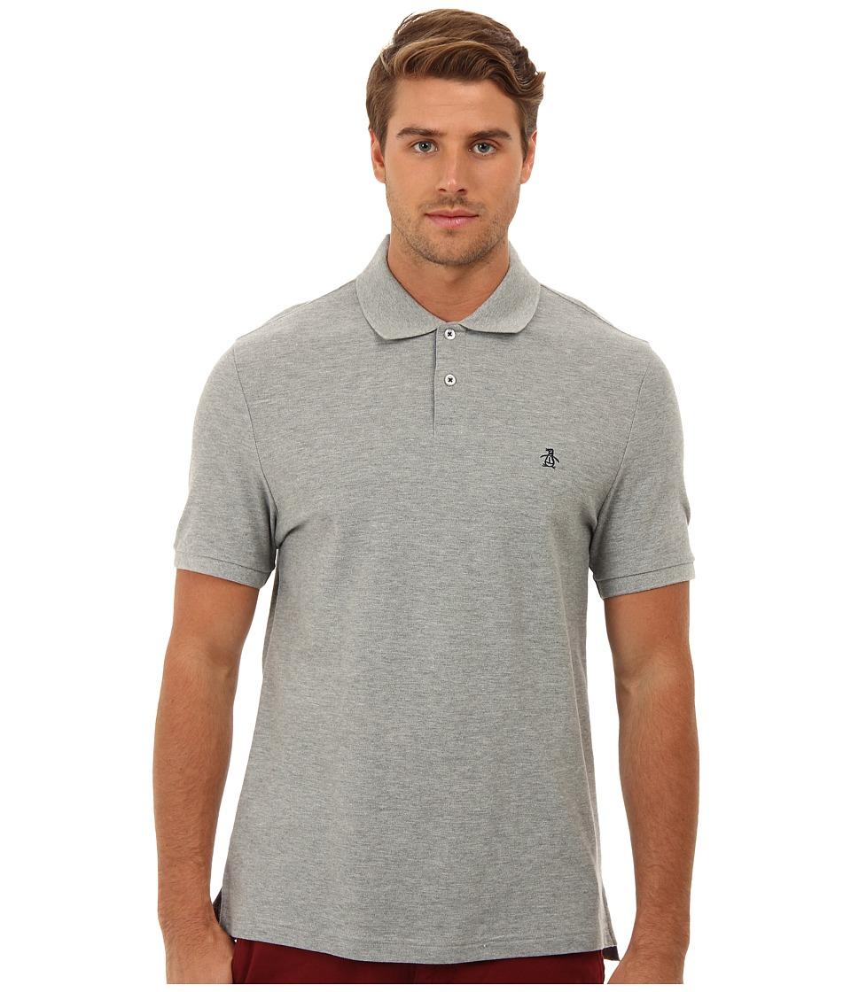 Original Penguin - Daddy-O Polo (Rain Heather) Men's Short Sleeve Pullover