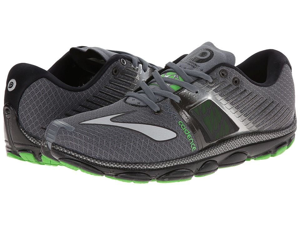 Brooks - PureCadence 4 (Urban Grey/Black/Classic Green) Men's Running Shoes