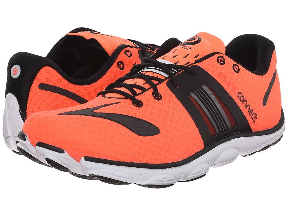 Brooks - PureConnect 4 (Fiery Coral/Black/White) Men