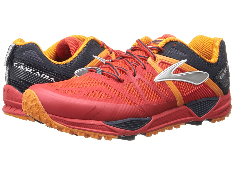 Brooks Cascadia 10 (High Risk Red/Satsuma/Black Iris) Men