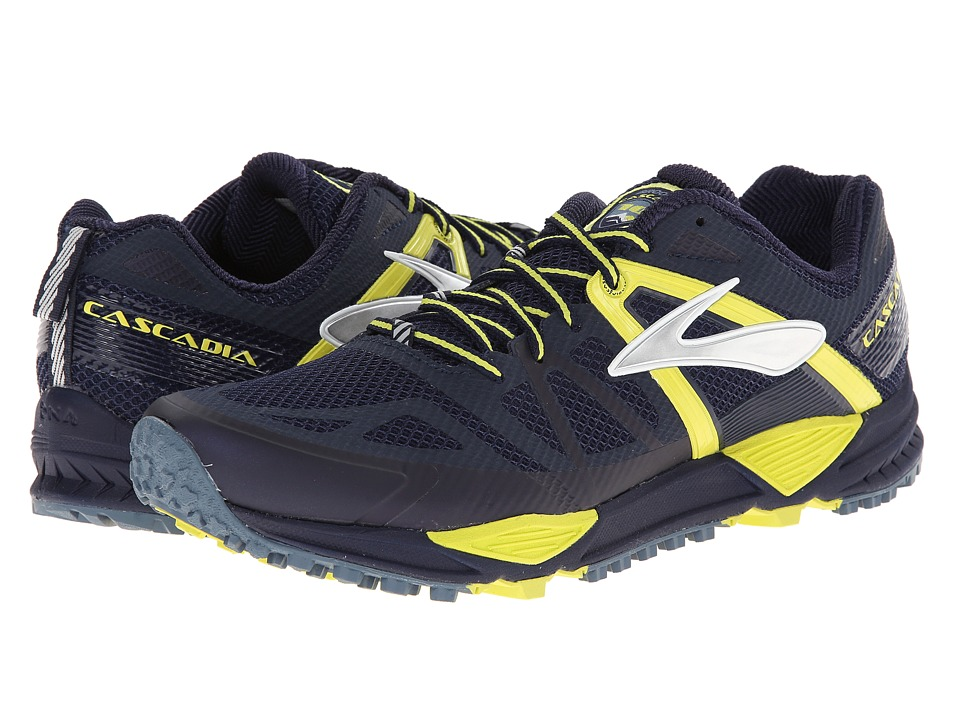 Brooks - Cascadia 10 (Midnight/Sulphur Spring) Men's Shoes