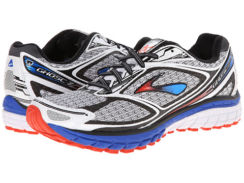 Brooks - Ghost 7 (White/Electric/Torch) Men's Running Shoes