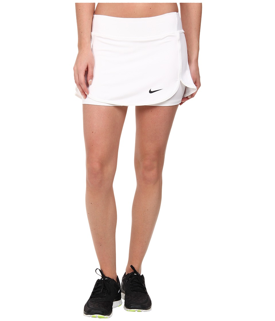 Nike - Straight Court Skort (White/Black) Women's Skort