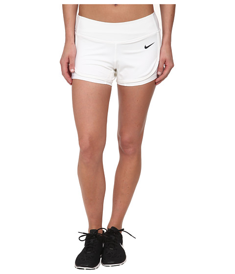 Nike - Ace Court Short (White/White/Black) Women's Shorts