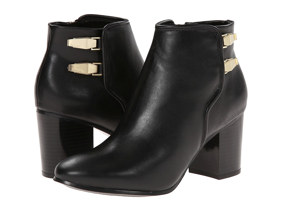 Calvin Klein - Ahlam (Black Calf/Cow Kansas) Women