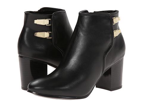 Calvin Klein - Ahlam (Black Calf/Cow Kansas) Women's Zip Boots