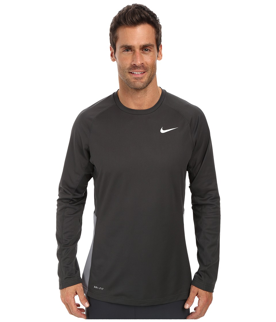 Nike - Crossover L/S Top (Anthracite/Anthracite/Cool Grey/White) Men's Long Sleeve Pullover