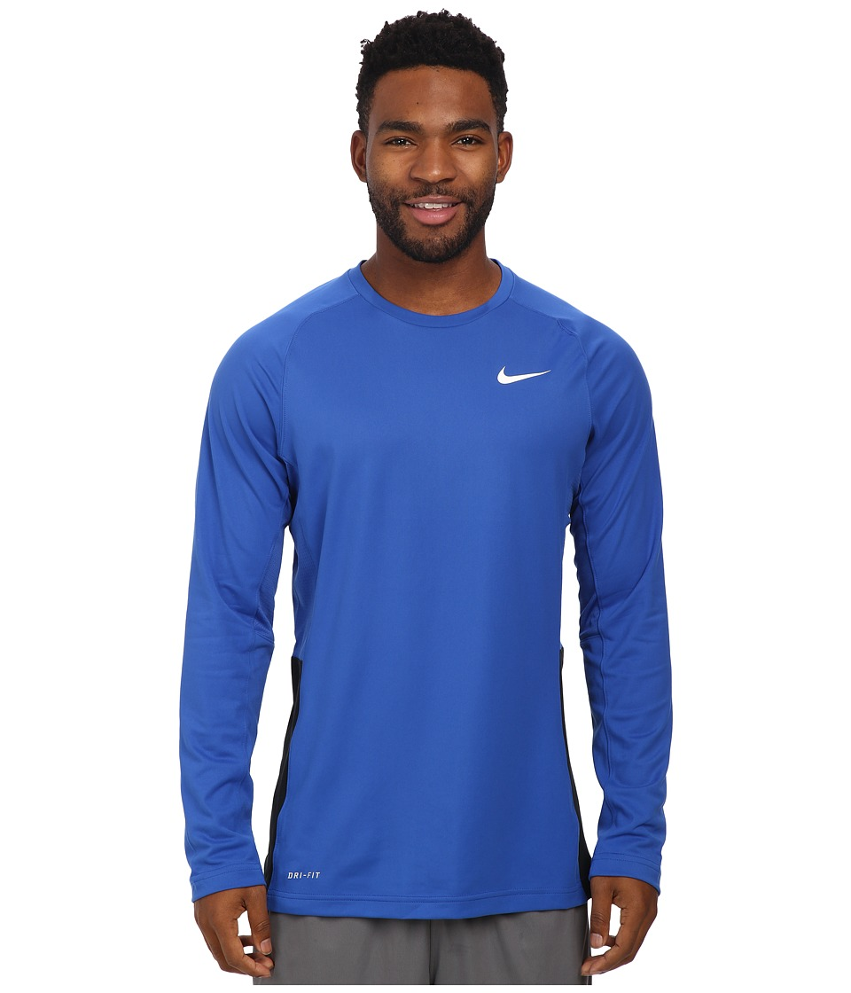Nike - Crossover L/S Top (Game Royal/Game Royal/Black/White) Men's Long Sleeve Pullover
