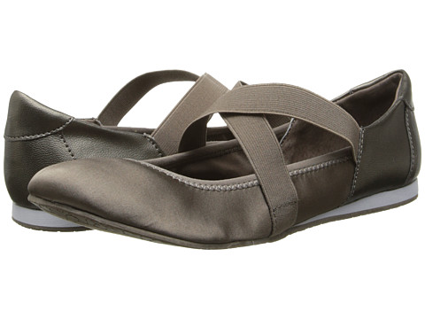 Calvin Klein - Kira (Zinc/Caribou Goat Nappa/Satin) Women's Flat Shoes