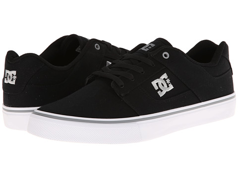 DC - Bridge TX (Black/Grey) Men's Skate Shoes
