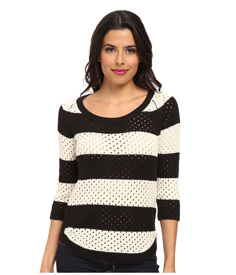 UNIONBAY - Penny Scoop Neck Sweater (Black) Women's Sweater