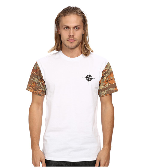 Crooks & Castles - Knit Crew T-Shirt - Conquer and Destroy (White) Men's T Shirt