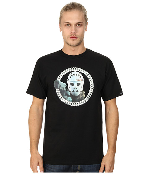 Crooks & Castles - Knit Crew T-Shirt - Crks Heat (Black) Men's T Shirt